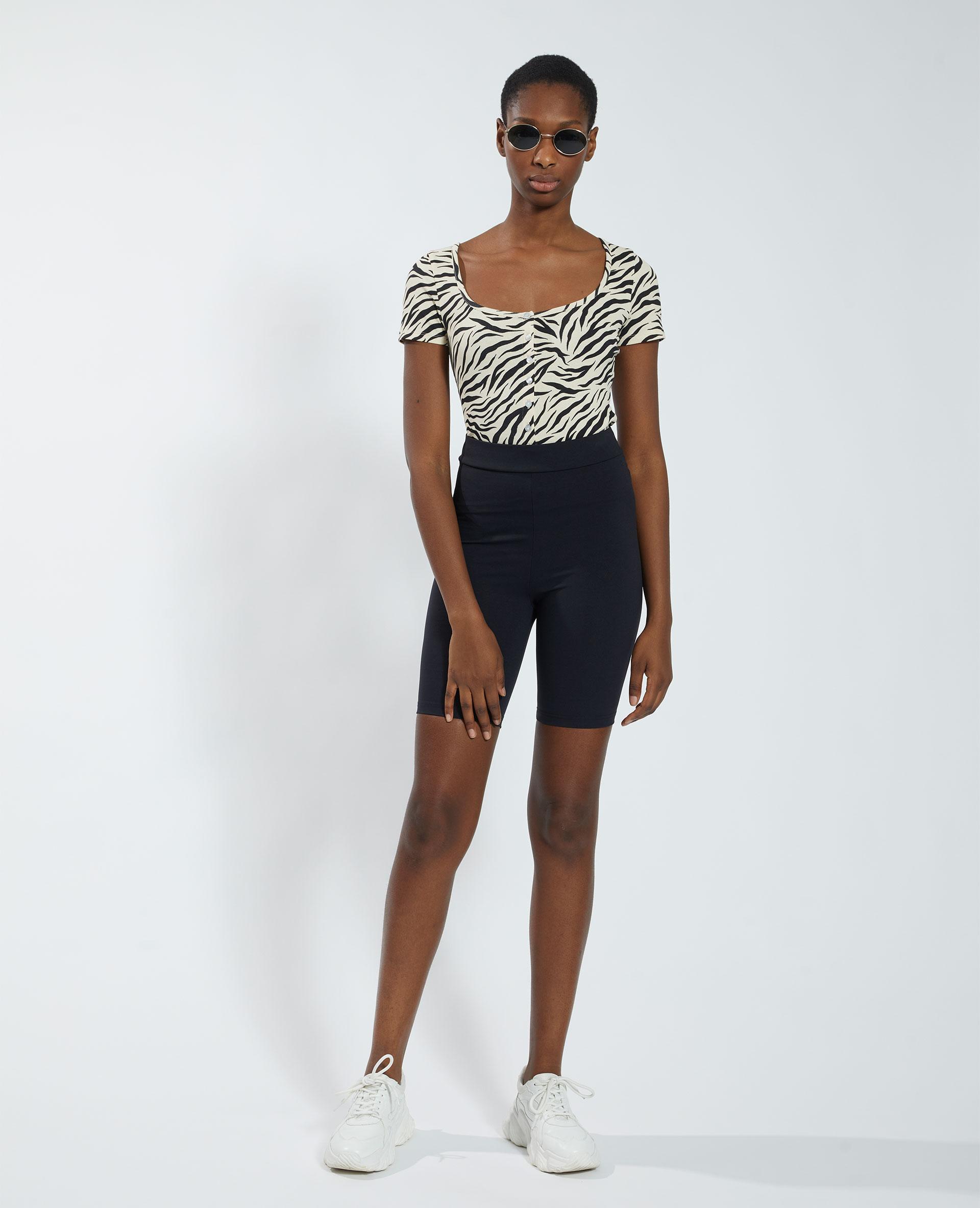 Pantaloncini corti in stile ciclista nero - Pimkie