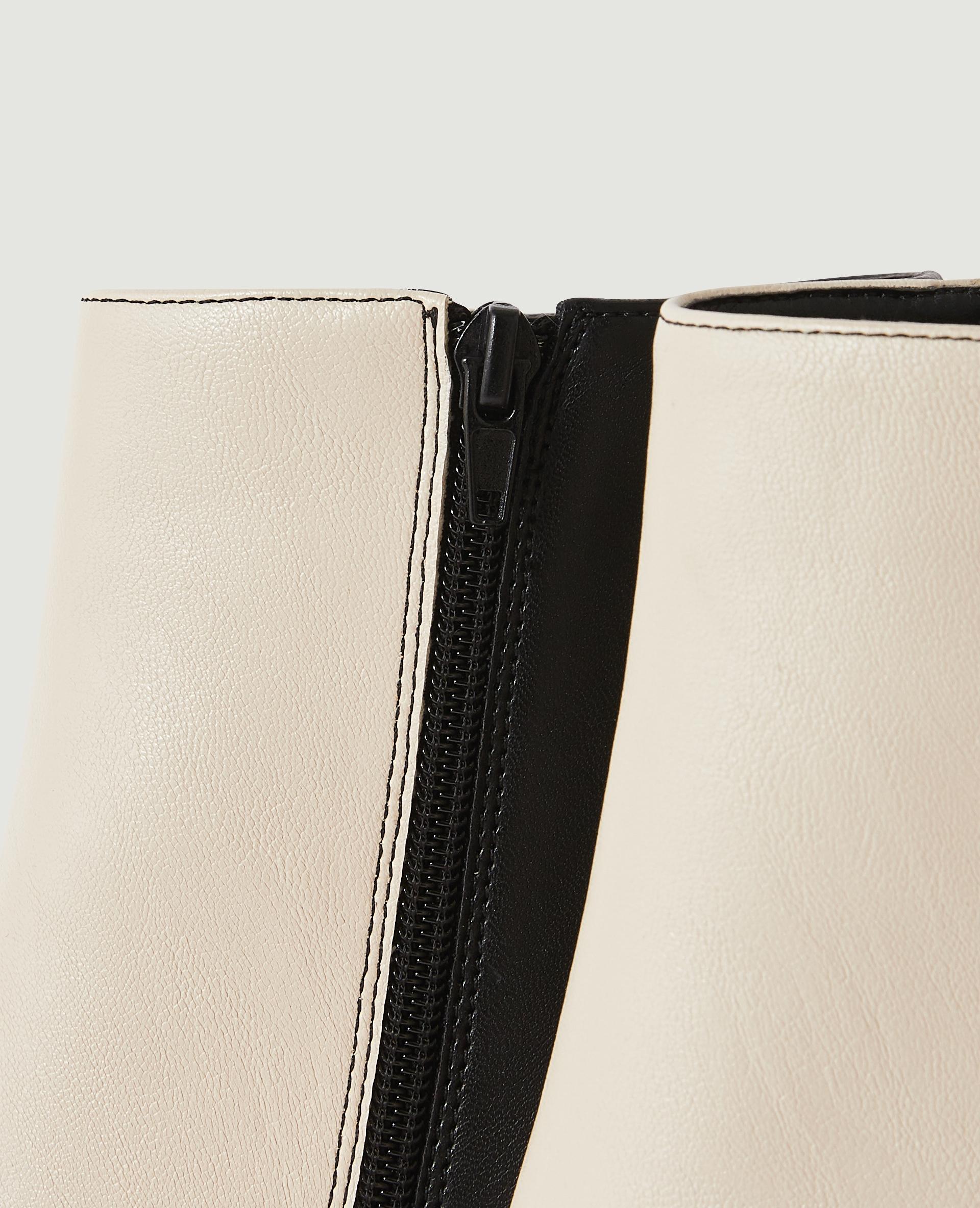 Stivaletti due colori con tacco in similpelle nero - Pimkie