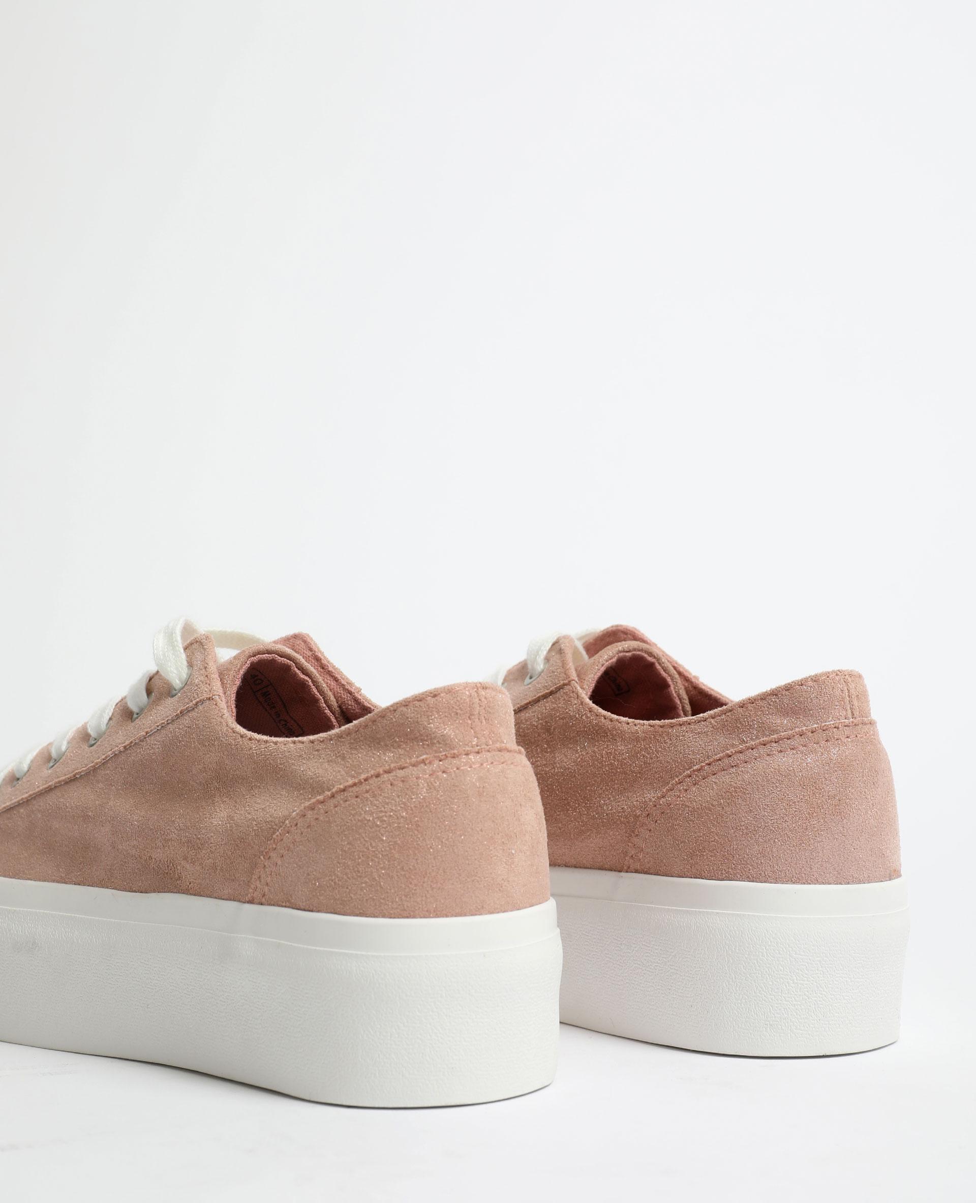 Scarpe da ginnastica con suola spessa rosa cipria - Pimkie