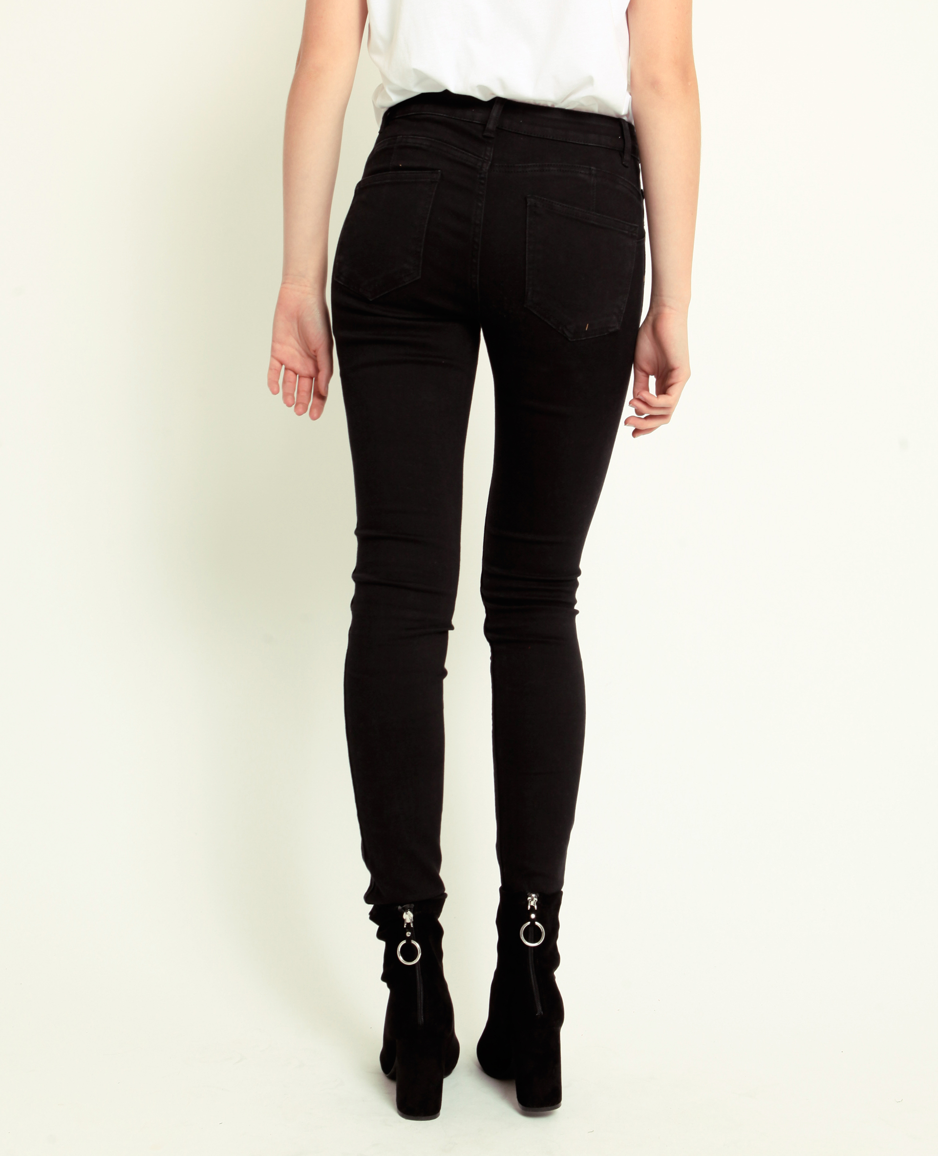 Jeans push up mid waist nero - Pimkie