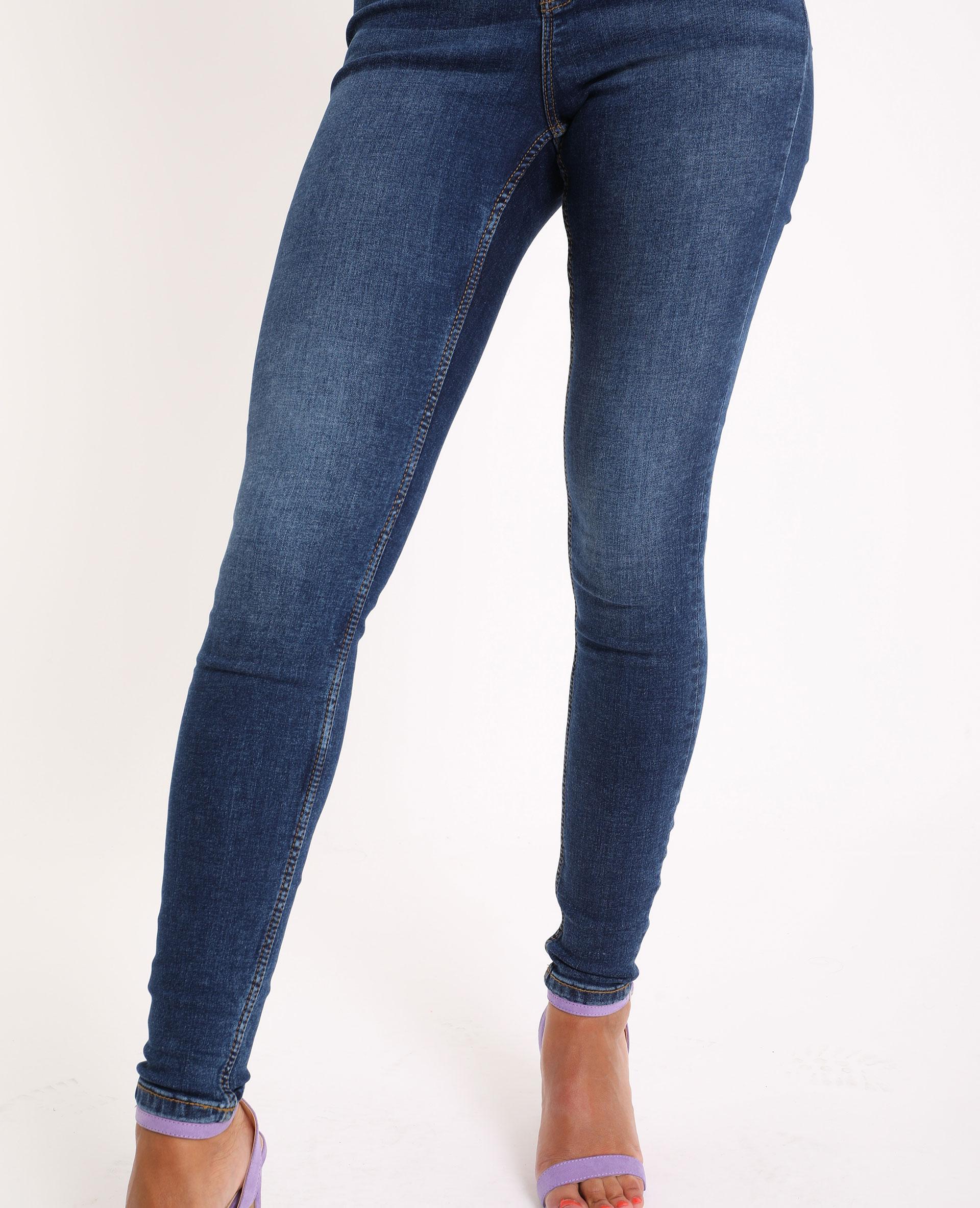 Jeans skinny high waist blu grezzo - Pimkie