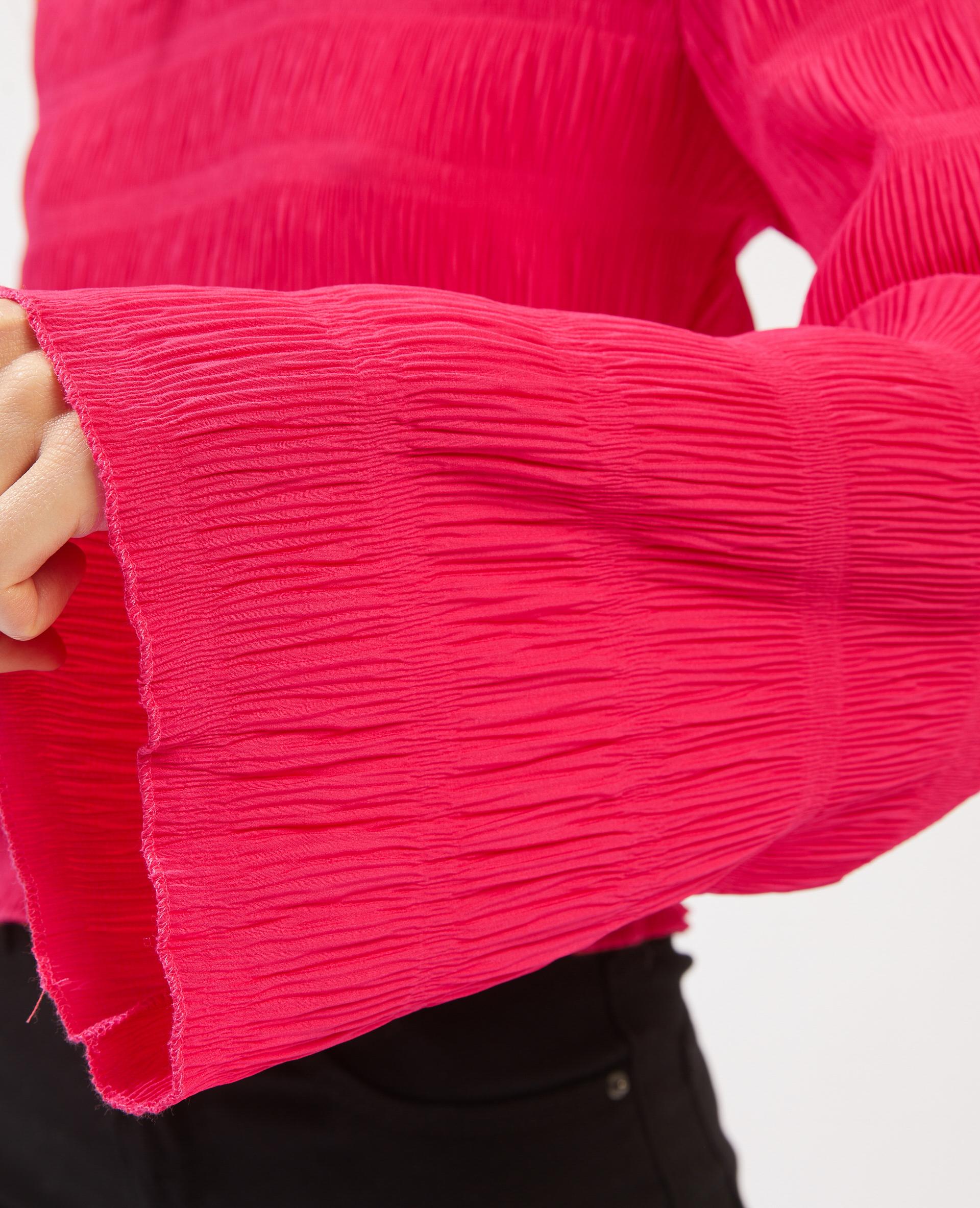 Top effetto plissettato rosa - Pimkie