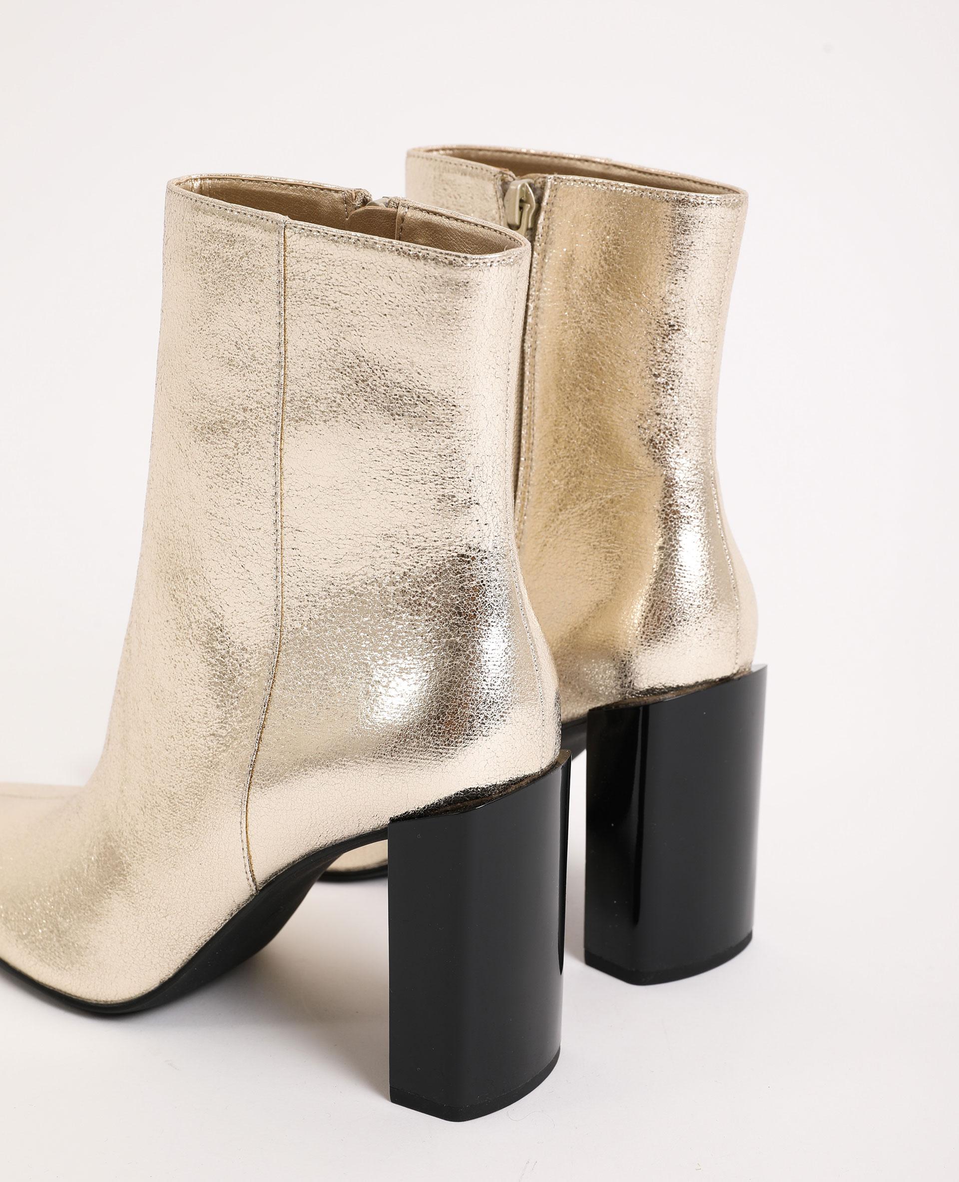 Stivali con tacco dorato - Pimkie