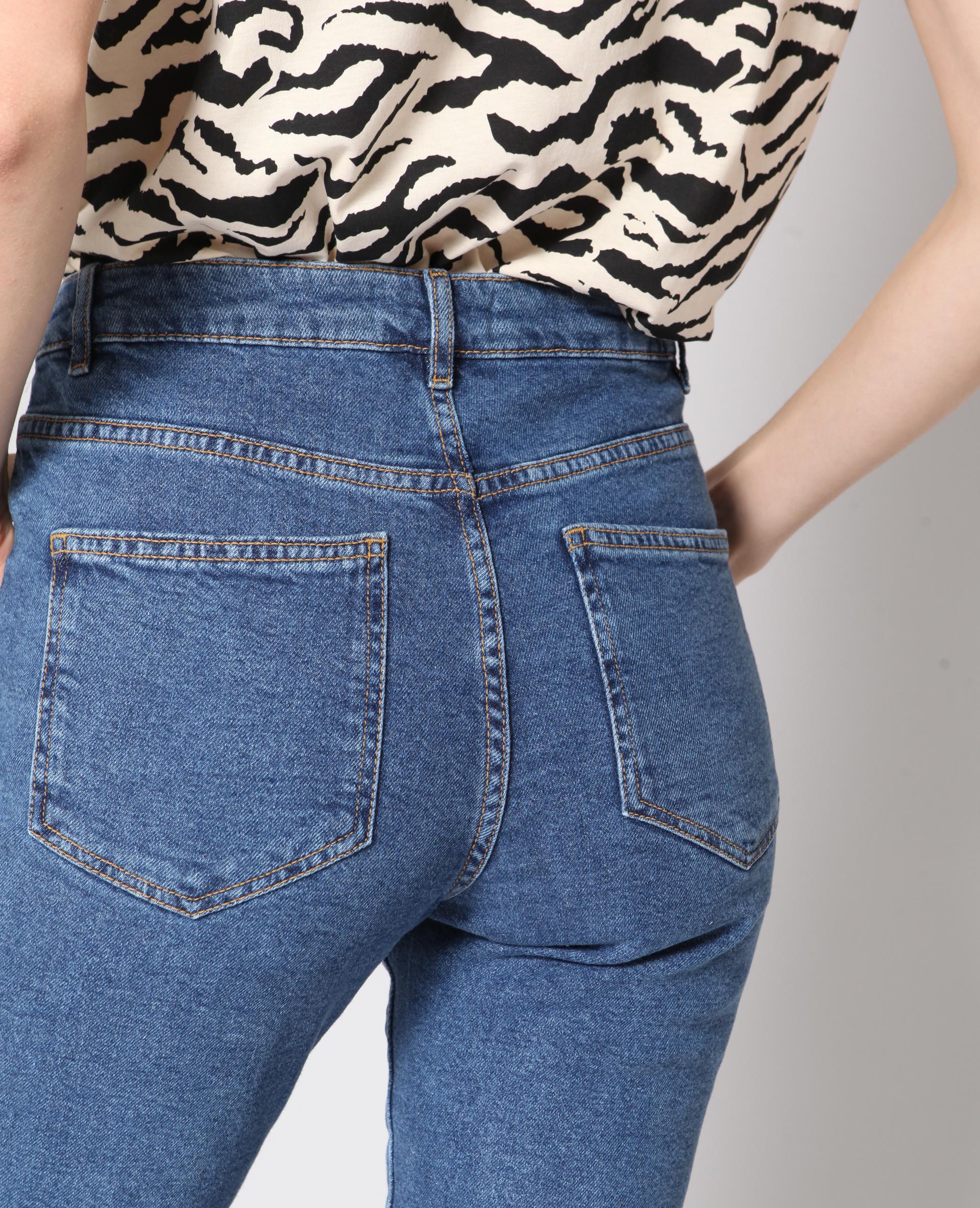 Jeans slim a vita alta blu - 140749687A06 | Pimkie