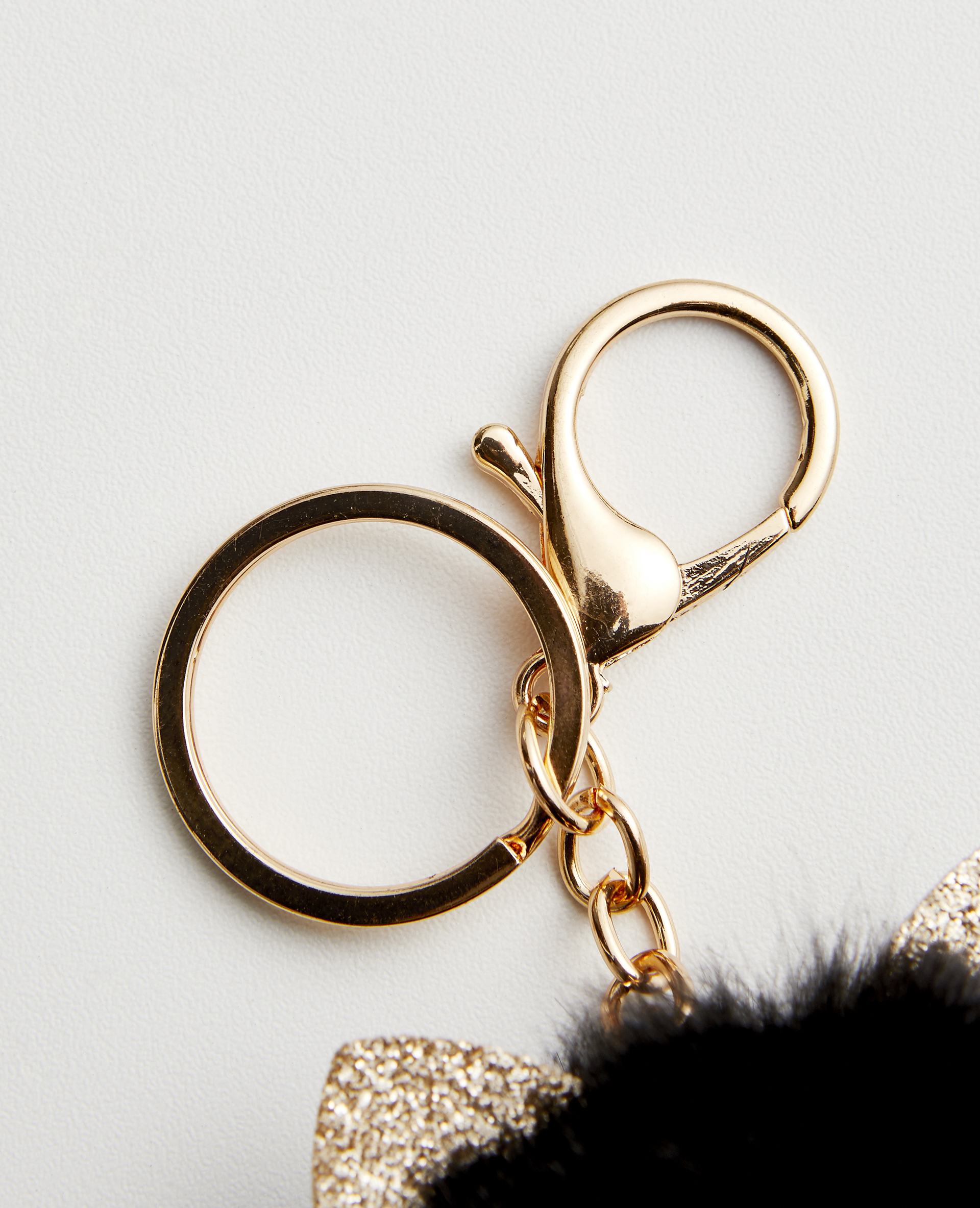 Portachiavi in pelliccia ecologica nero - Pimkie