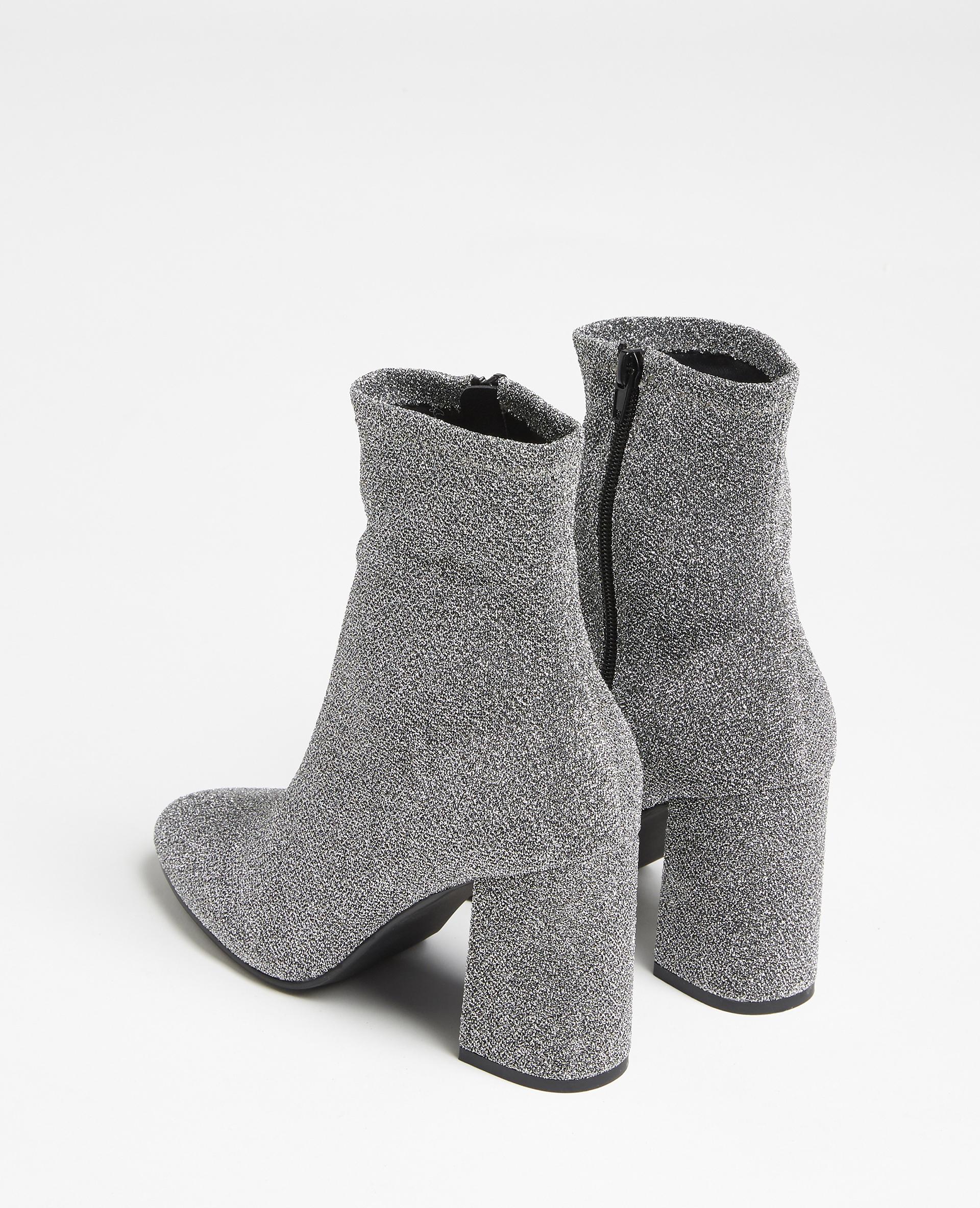Stivali in microfibra. grigio paillettato - Pimkie