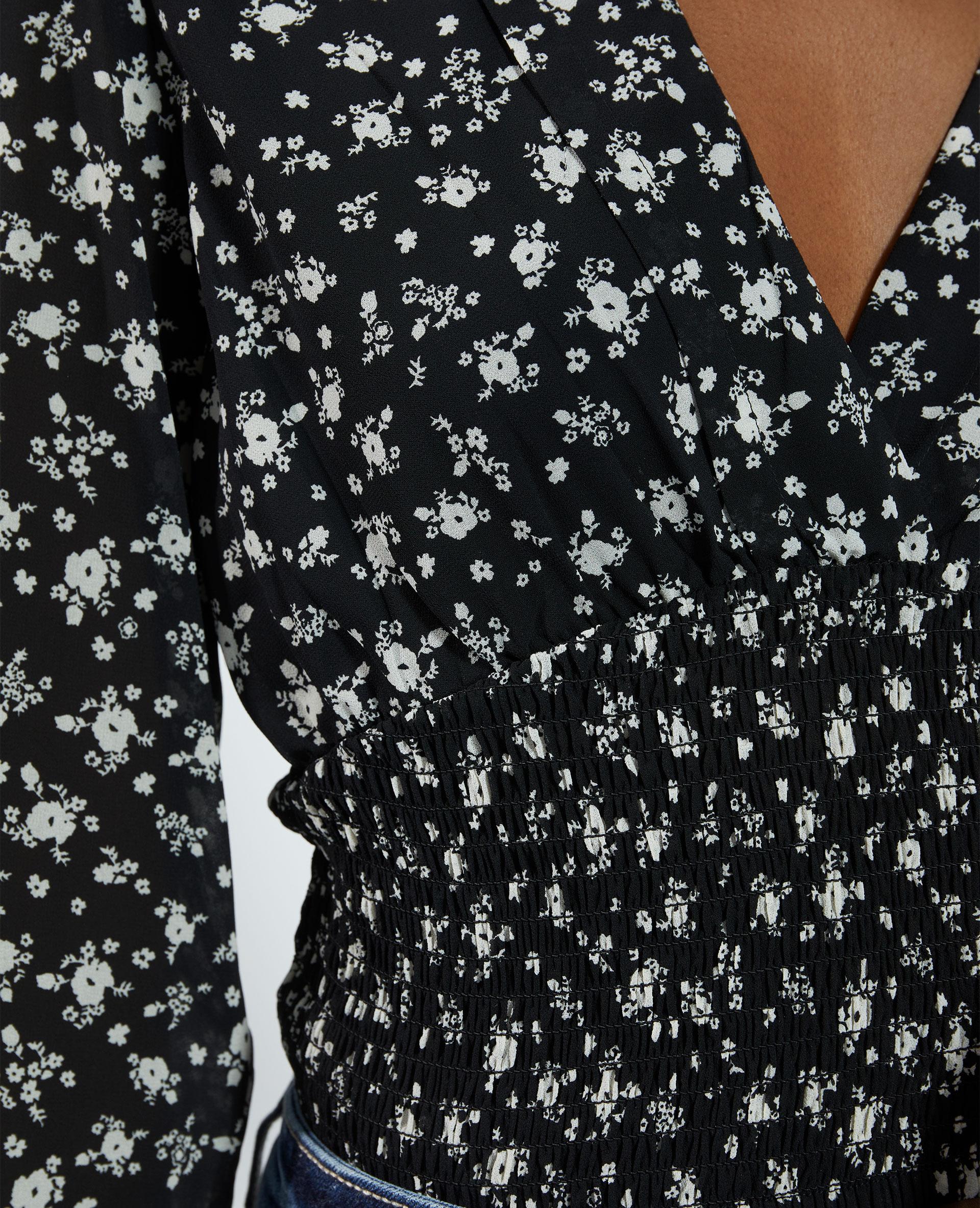 Top cache-cœur a fiori nero - Pimkie