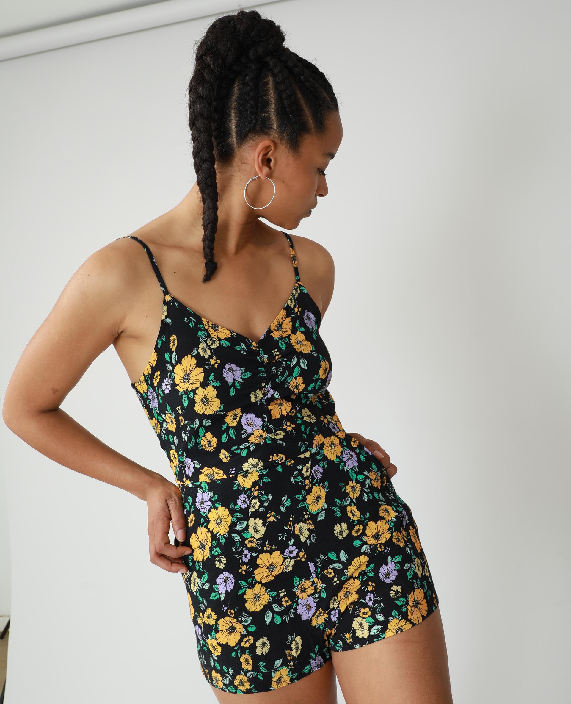 Tutina a fiori nero - Pimkie