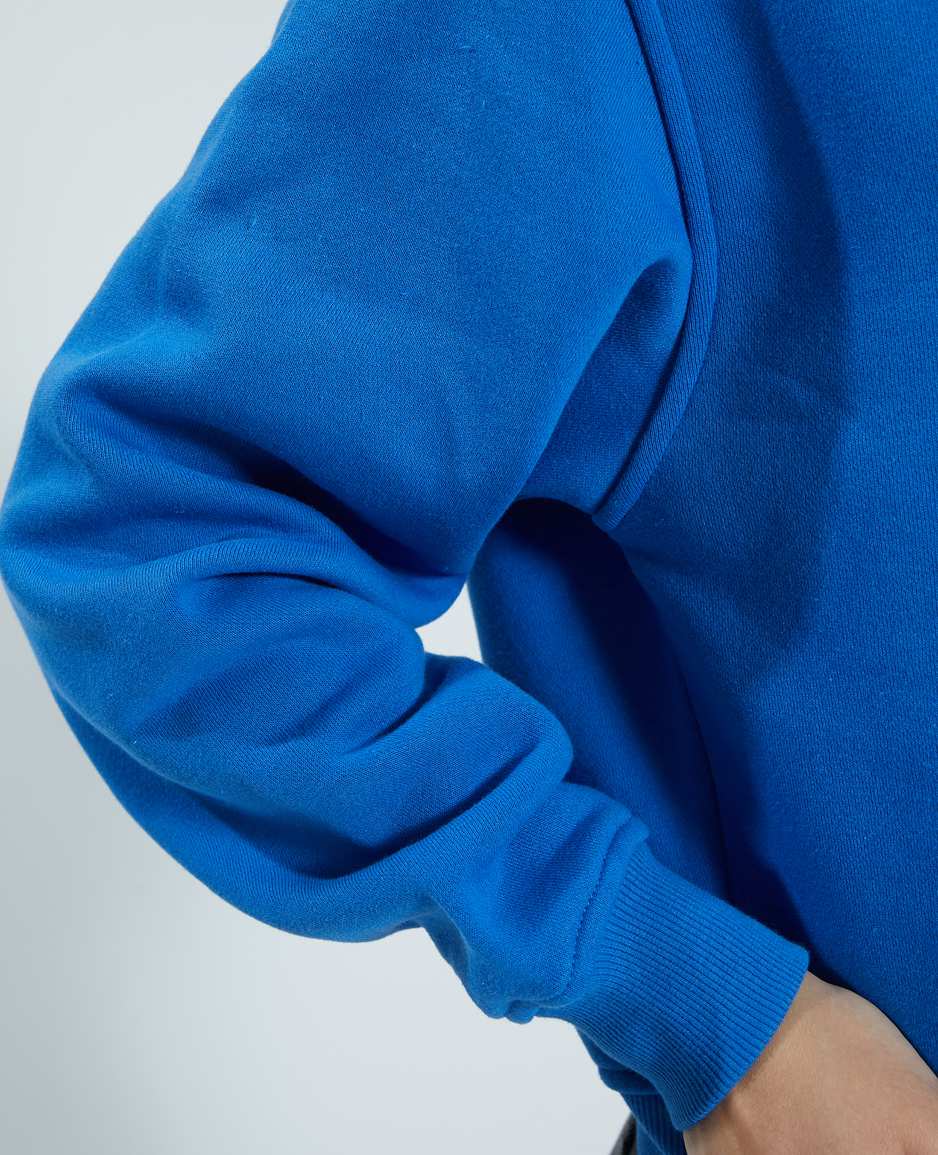 Felpa in tessuto felpato blu - Pimkie