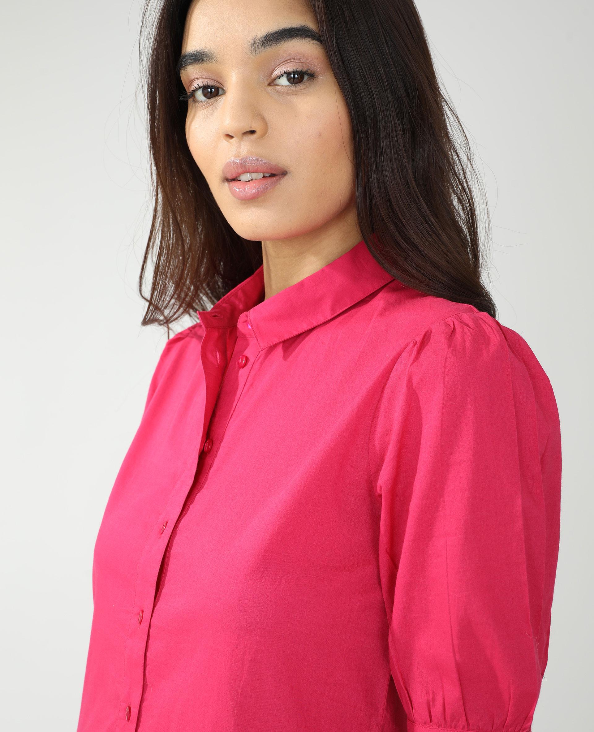 Abito camicia rosa - Pimkie