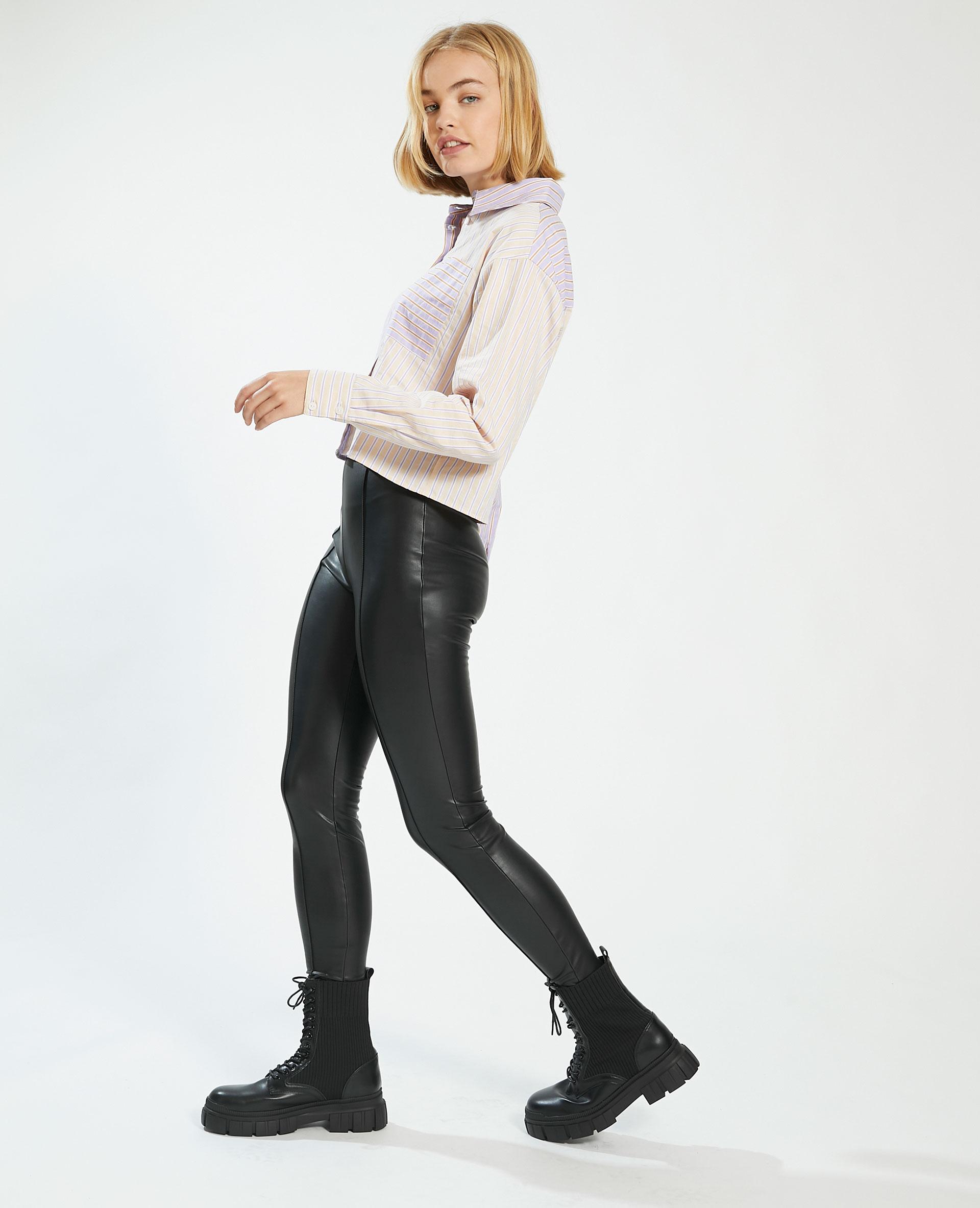 Leggings in similpelle nero - Pimkie