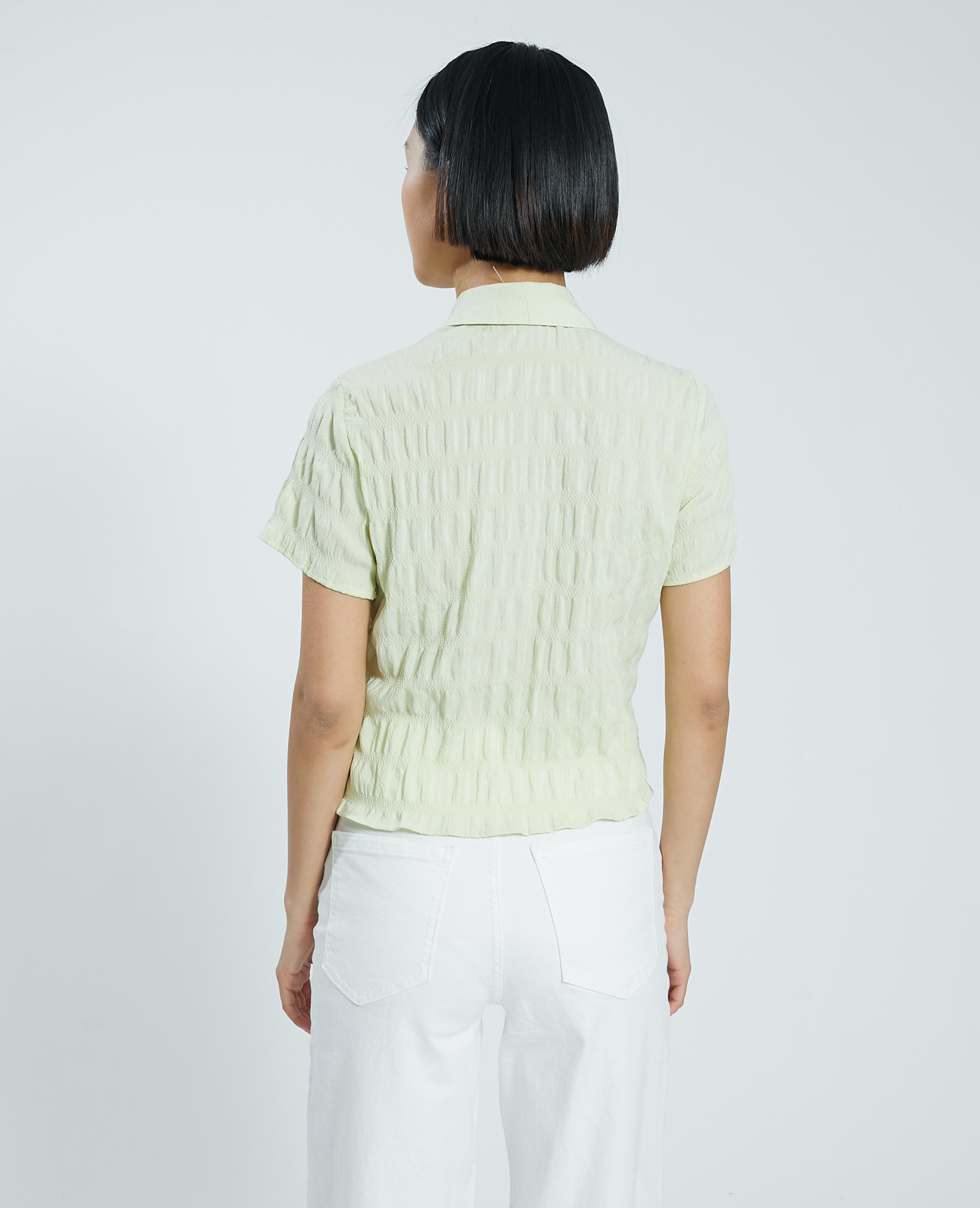 Camicetta effetto goffrato verde - Pimkie